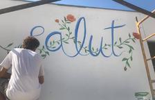 Montgai completa la ruta literaria con murales urbanos