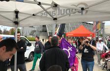 Protesta contra el PP, Cs i Vox a Lleida i els Mossos identifiquen participants