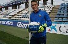 Víctor Vidal, al Camp d'Esports, on va debutar diumenge passat després de fer-ho abans a Sabadell.