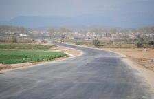 Completan el pavimento de la carretera de Linyola
