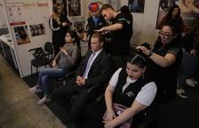Los estands de peluquería ofrecieron demostraciones de distintos tipos de peinado.