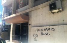 Cs de Lleida denúncia davant dels Mossos pintades a la seua seu
