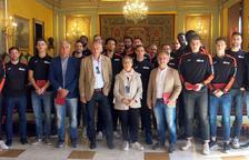 Visita institucional del Força Lleida a la Paeria