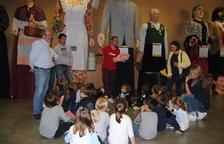 Exposición de los gigantes de la comarca en Fondarella