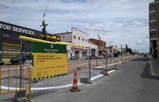 Les obres de l'avinguda Francesc Macià de les Borges, executades en un 75%