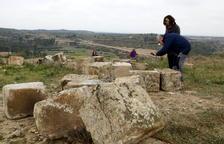 Las obras para reconstruir el Arc d'Adar de Llardecans, este mes
