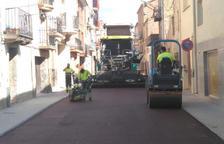 S'inicia l'asfaltat de 2km de carrers a Almacelles
