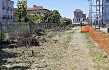 Comienzan las obras del parking para 30 coches en la estación de Cervera