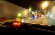 Un accident obliga a tallar l'N-230 al túnel de Vielha