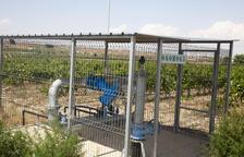 Instalaciones de regadío de la red secundaria del Segarra-Garrigues en el municipio de Verdú.
