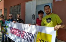Miembros de la candidatura de la CUP en la capital del Urgell.