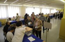 El colegio electoral en la escuela Frederic Godàs, en Cappont.