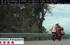 Cazado un motorista a 186 km/h por la carretera C-14 en Ciutadilla