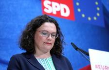 Dimite Andrea Nahles, la socia de Merkel en el Gobierno alemán