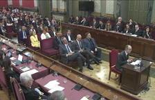 Vista del banquillo de los acusados en el juicio al 'procés' en el Supremo.