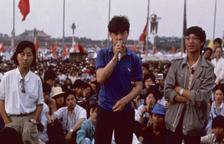 Portaveus dels estudiants a les protestes del 1989.