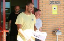 Aranda, a l'abandonar la presó de Zuera el 31 de maig passat.