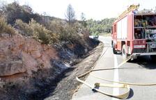 Els Agents Rurals apunten que l'incendi de Maials es va originar per una negligència