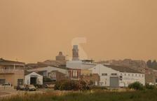 El foc forestal de la Ribera d'Ebre ja crema 5.500 hectàrees