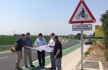 Sensors per comptar els ciclistes que circulen per la Linyola-Bellcaire