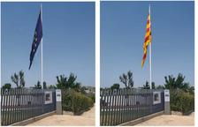 Almacelles retira la bandera europea com a protesta