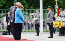Merkel sufre temblores por tercera vez en un mes