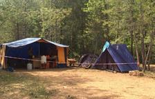 Una de las acampadas en uno de los bosques del Solsonès.