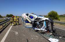 Aparatoso accidente en la autovía