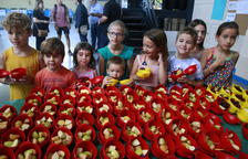 Imagen de una campaña de promoción del consumo de fruta entre los más pequeños.