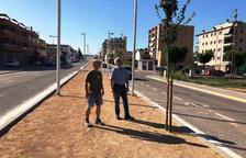 Not y Guasch en la avenida Francesc Macià de Les Borges.