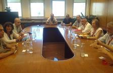 Los representantes de Asaja, ayer con la consellera de Agricultura.
