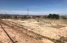 La zona donde se construirá el nuevo campo de fútbol 7.