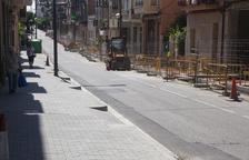 La reforma de l'avinguda Jaume Mestres d'Agramunt, llesta a l'agost