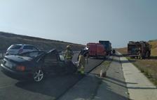 Ferit un conductor en un accident a l'A-14