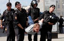 Més de mil detinguts per una manifestació a Moscou