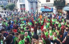 Imatge dels participants de la carrera Aran per sa Lengua a Vielha.
