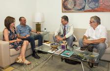Pueyo recibe al presidente del Colegio de Médicos de Lleida, Ramon Mur