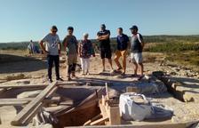 Los trabajos para montar el Arc d'Adar, este mes