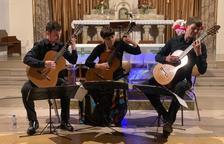 El Salzburg Guitar Trio llena con sus acordes la iglesia de Juneda
