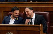 Rufián i Junqueras a la sessió constitutiva del Cong