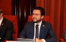 """El vicepresident del Govern i conseller d'Economia, Pere Aragonès, a l'inici de la comissió d'Economia sobre la """"retallada del 6% als pressupostos""""."""