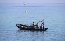 Hallan otro artefacto cerca de la costa en Badalona
