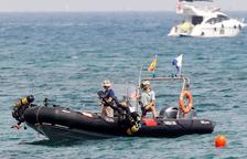 La 'bomba' de la playa de Badalona era solo hormigón