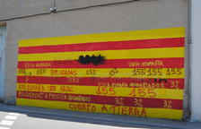 El Palau d'Anglesola denuncia daños a murales soberanistas
