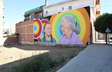 Un pueblo de Lleida luce un mural dedicado a Greta Thunberg y a Jane Goodall