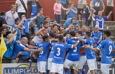 El Lleida guanya en l'última acció del partit al camp de l'Olot amb un heroi inesperat
