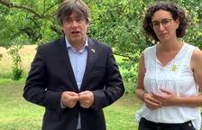 """Puigdemont i Rovira escenifiquen la unitat del sobiranisme: """"No podran doblegar-nos"""""""