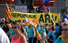 La manifestació a Barcelona / Foto: ACN