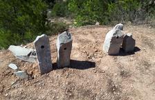 Destrozadas las esculturas del mirador de La Granadella