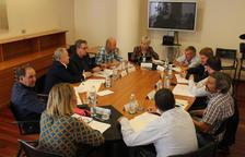 La reunión celebrada ayer en la Diputación de Huesca para tratar la regulación de Mont-rebei.